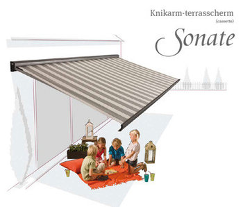 Knikarm-terrasscherm Sonate